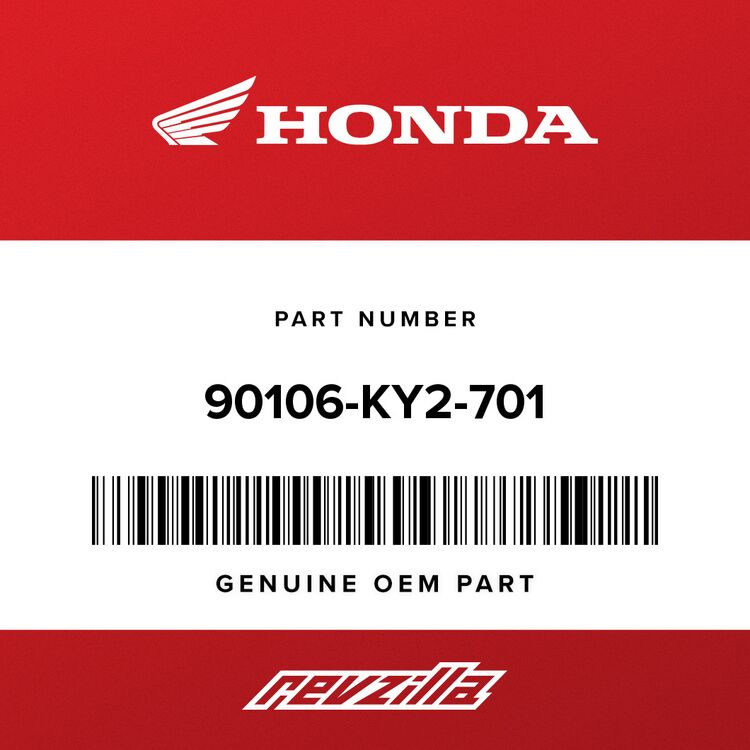 Honda SCREW, PAN (6X11) 90106-KY2-701