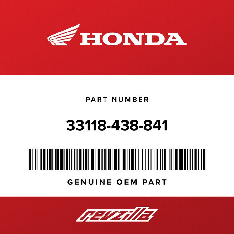 Honda NUT, BEAM ADJUSTING 33118-438-841