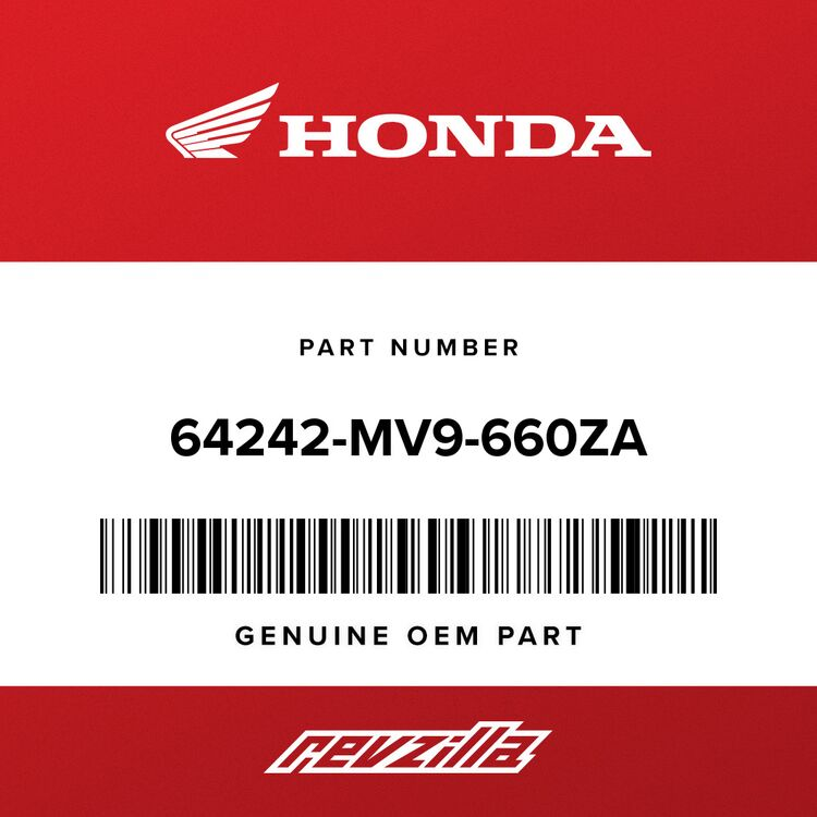 Honda STRIPE B, L. COWL (UPPER) (TYPE21) 64242-MV9-660ZA