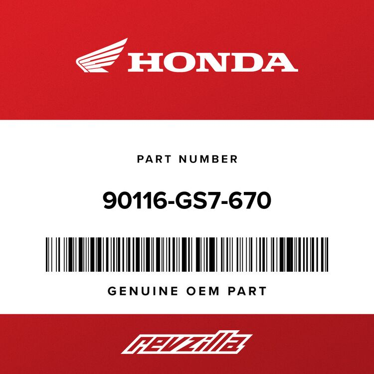 Honda SCREW, PARKING LEVER PIVOT 90116-GS7-670