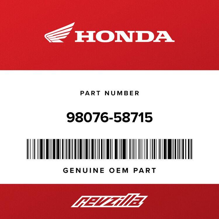 Honda SPARK PLUG (BPR8HSA) (NGK) 98076-58715