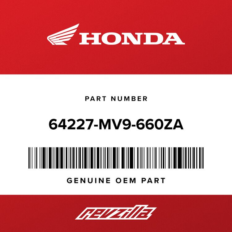 Honda MARK, FR. CENTER COWL HONDA (TYPE21) 64227-MV9-660ZA