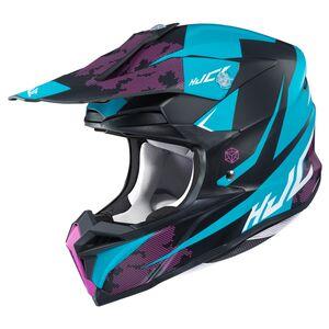 HJC i 50 Tona Helmets Matte Black/Blue/Purple / XS [Demo - Good]