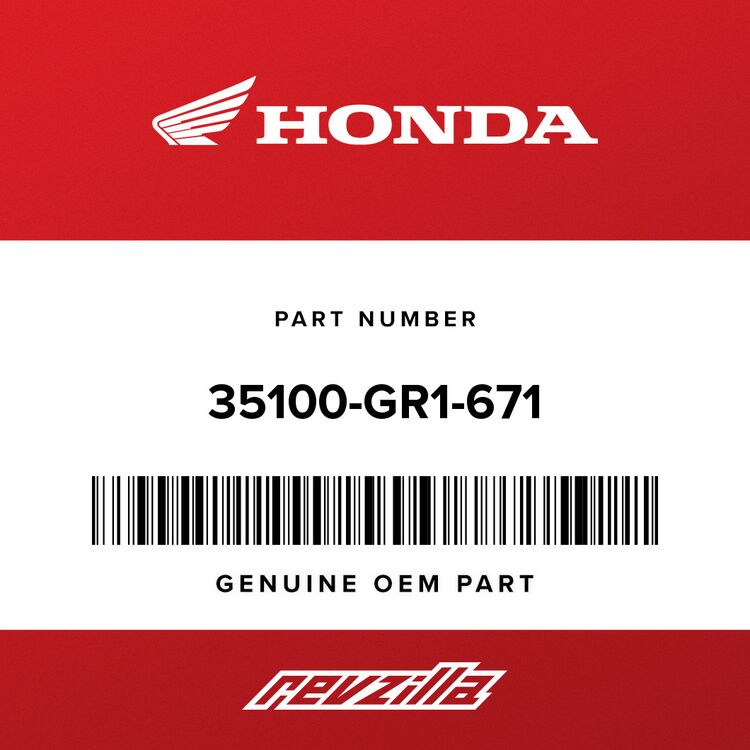 Honda SWITCH ASSY., COMBINATION & LOCK 35100-GR1-671