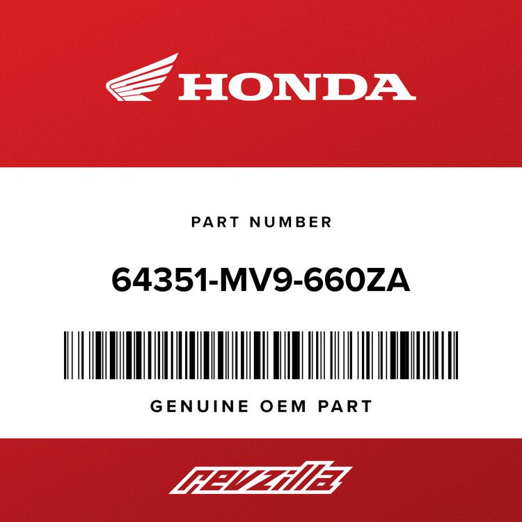 Honda COWL SET, L. (LOWER) (TYPE21) (WL) 64351-MV9-660ZA