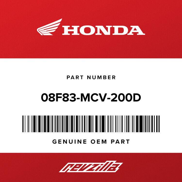 Honda INSERT, ALLEN BOLT (6MM) (CHROME) (PACKAGE 10) 08F83-MCV-200D