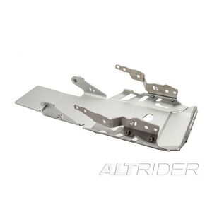 AltRider Skid Plate BMW R1200GS 2016-2018 With OEM BMW Crash Bars / Silver [Previously Installed]