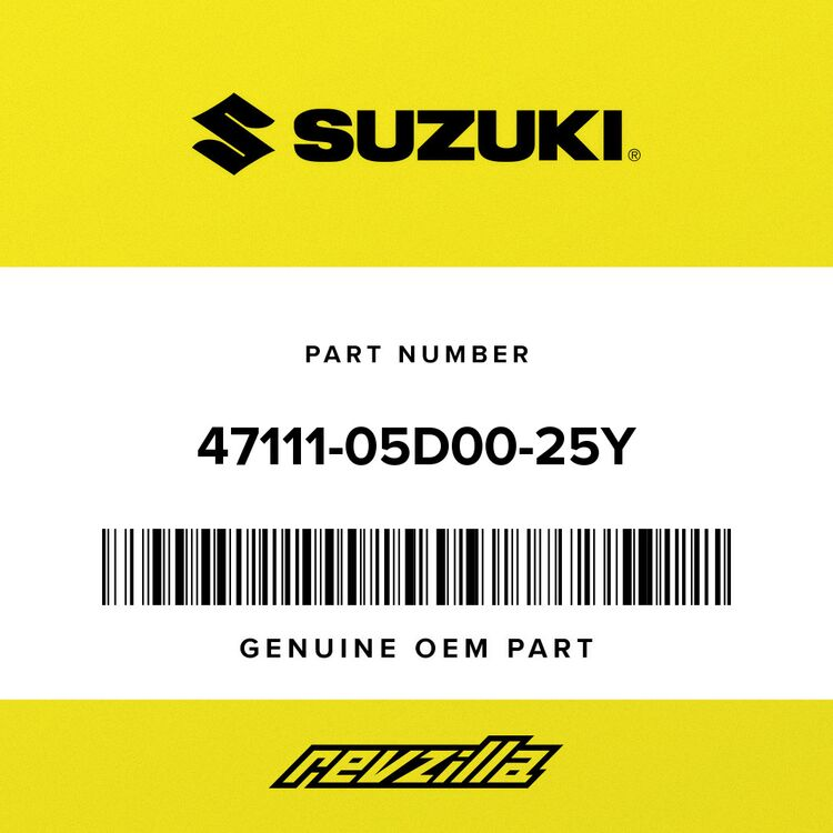 Suzuki COVER, FRAME RH (YELLOW) 47111-05D00-25Y