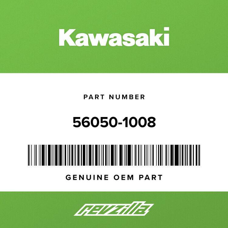 Kawasaki MARK, BACK REST COVER, RED&EBONY 56050-1008