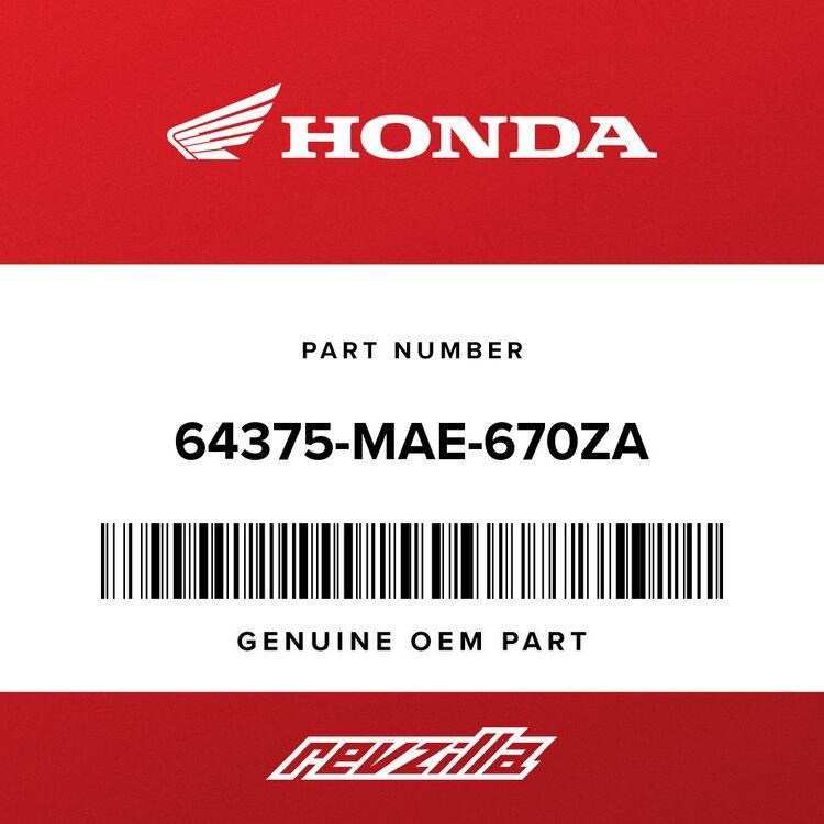 Honda COWL, L. MIDDLE (INNER) *NH1* (BLACK) 64375-MAE-670ZA
