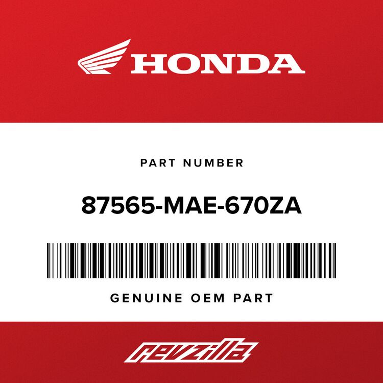 Honda LABEL, COLOR (NH196I) (TYPE1) 87565-MAE-670ZA
