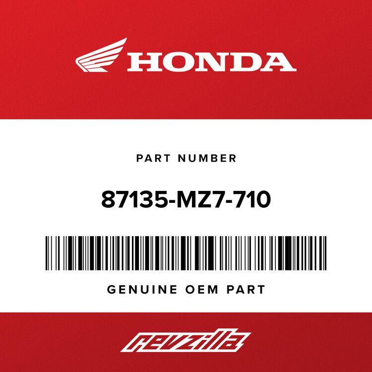 Honda DIAGRAM, VACUUM HOSE ROUTING 87135-MZ7-710