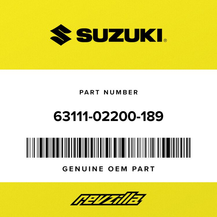 Suzuki FENDER, REAR (WHITE) 63111-02200-189