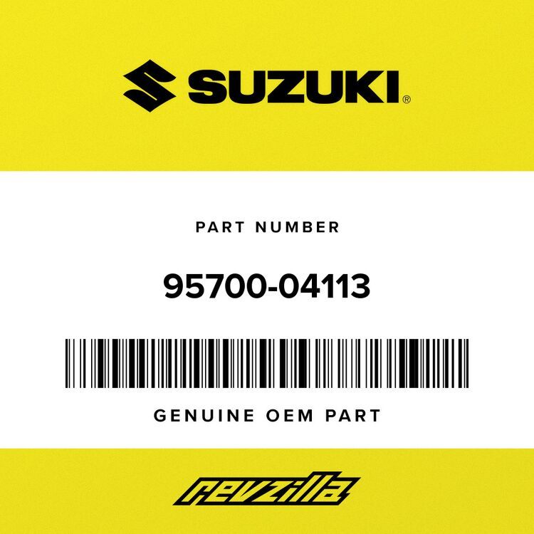 Suzuki LOCK ASSY, HELMET 95700-04113