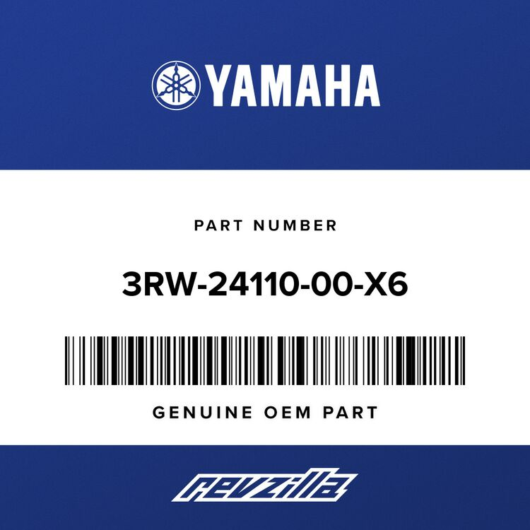 Yamaha FUEL TANK COMP. (WHITE) 3RW-24110-00-X6