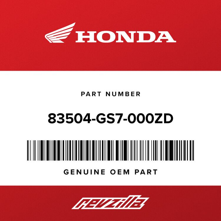 Honda COVER, R. *NH1* (BLACK) 83504-GS7-000ZD