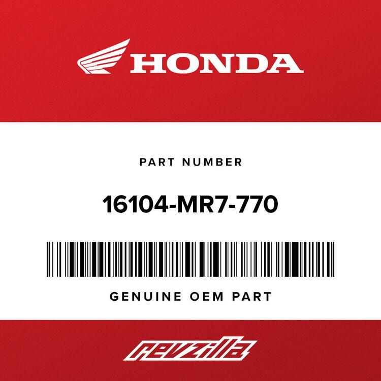 Honda CARBURETOR ASSY. 4 16104-MR7-770