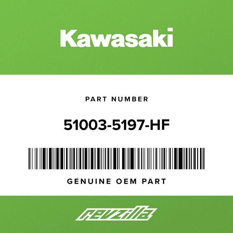 Kawasaki TANK-COMP-FUEL, RED/ROSE 51003-5197-HF