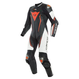 Dainese Misano 2 D-Air Perforated Race Suit Black/White/Fluo Red / 52 [Blemished - Very Good]