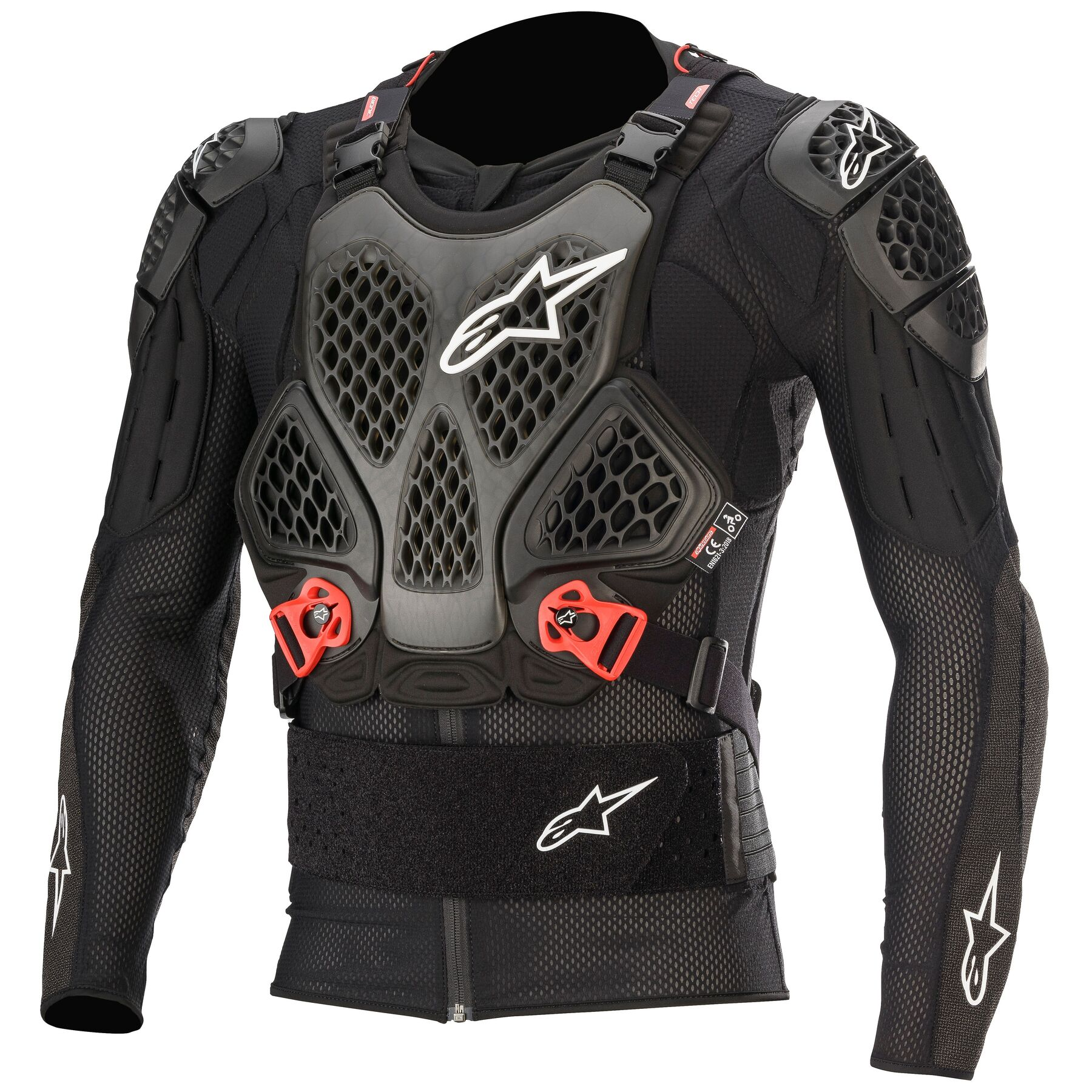 Black//Red//White Small Alpinestars MX Sequence Long Sleeve Protection Jacket