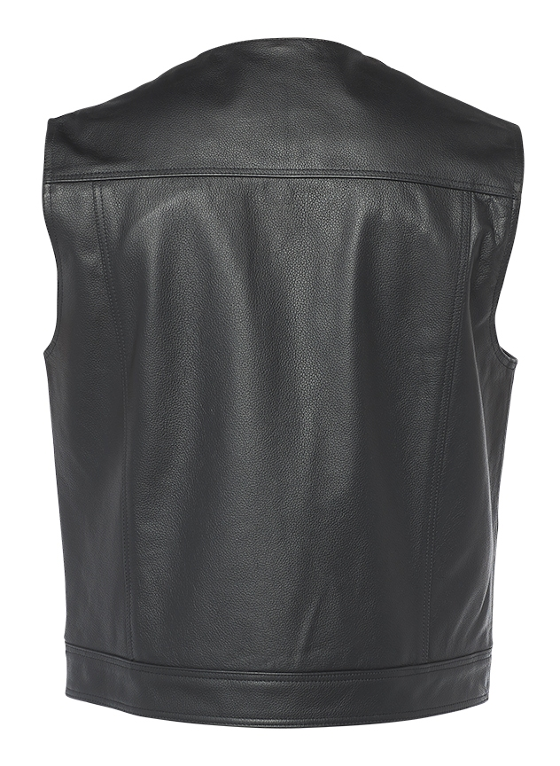 Speed and Strength Nomad Leather Mens Street Motorcycle Vest Black//Medium