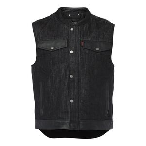 Speed and Strength Rover Denim Mens Street Motorcycle Vest Black//Medium