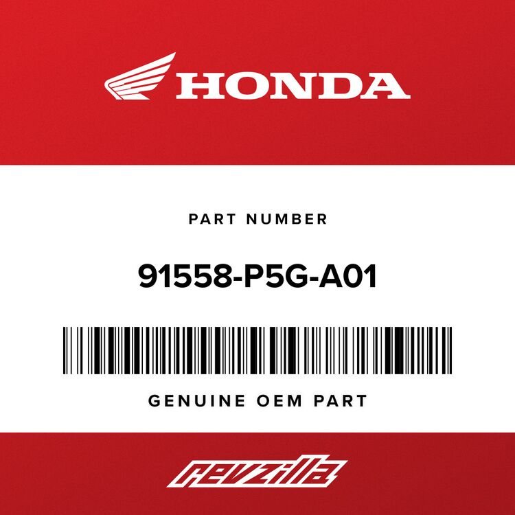 Honda CLIP, TUBE (11MM) (BLACK) 91558-P5G-A01