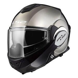 LS2 Valiant Helmet - Black Chrome (3XL)