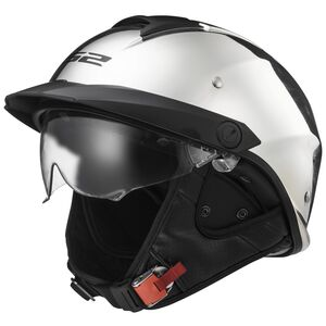 LS2 Rebellion Helmet - Black Chrome