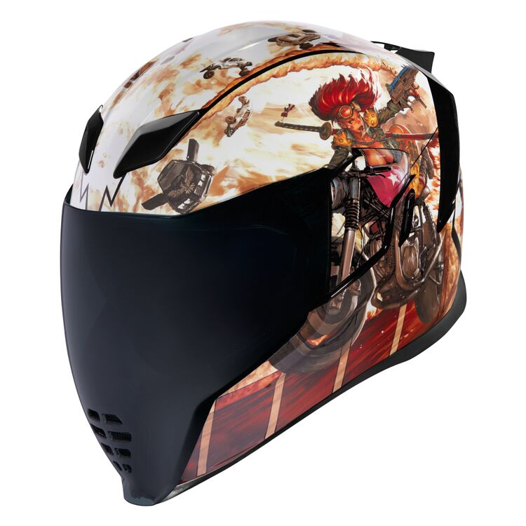 Icon Alliance GT DL18 Silver Limited Edition Retro Full Face Motorcycle Helmet