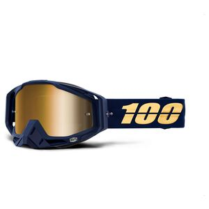 100/% Dirt Bike MX 50113-002-02 Racecraft Snow Goggles Black w//Mirror Blue Lens