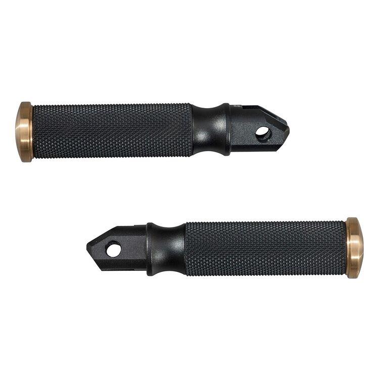 Yamaha Custom Rider Foot Pegs Bolt / Custom / Stryker Black/Gold [Previously Installed]
