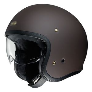 Shoei J·O Helmet - Solid Matte Brown / XL [Open Box]