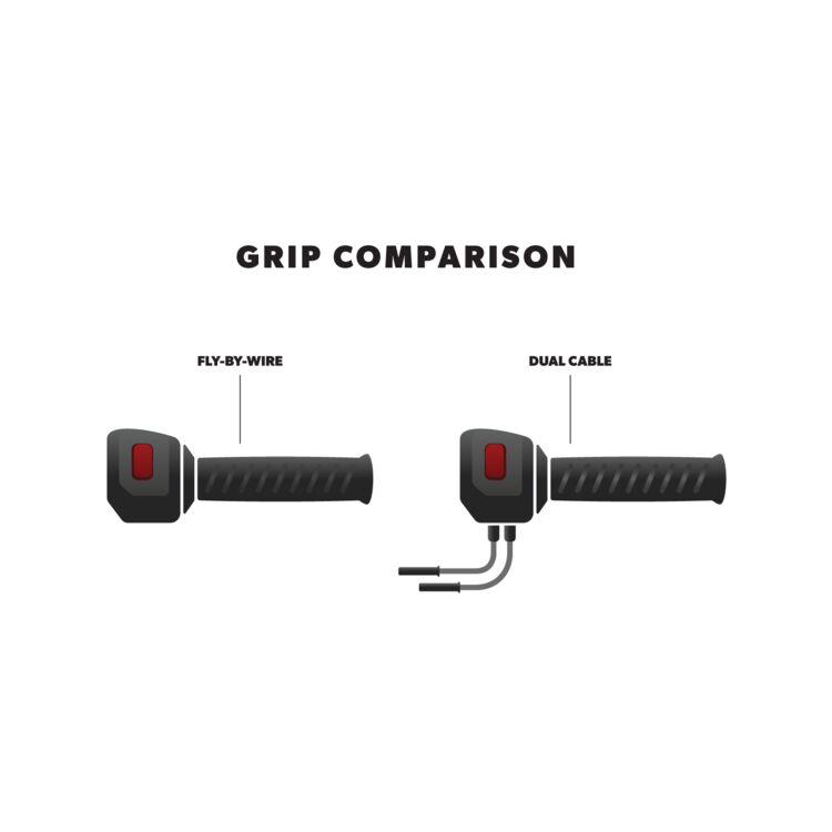 Avon Chrome Custom Spike End Grips For Harley Dual Cable Throttle