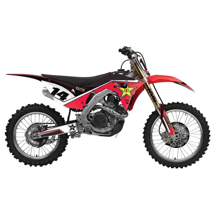 Factory Effex Rockstar Shroud / Airbox Graphics Kit Honda CRF150R / Expert 2007-2020
