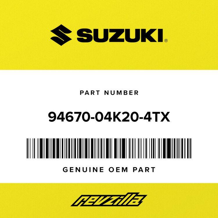 Suzuki COVER, SIDE RH (BLACK) 94670-04K20-4TX
