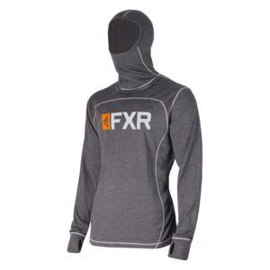 New 2020 FXR 100/% MERINO Wool VAPOUR CHARCOAL//ORANGE Base Layer Shirt Snowmobile