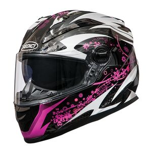Sedici Strada Bella Women's Helmet Black/White/Fuchsia / SM [Demo - Good]