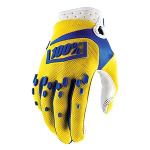 100% Airmatic Gloves Yellow / MD [Demo - Good]