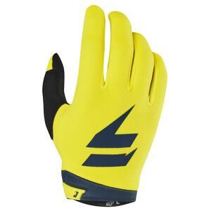Shift Whit3 Label Youth Air Glove Yellow/Navy / LG [Open Box]