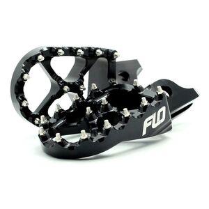 Flo Motorsports Pro Series Foot Pegs KTM / Husqvarna 50cc-501cc Black [Previously Installed]