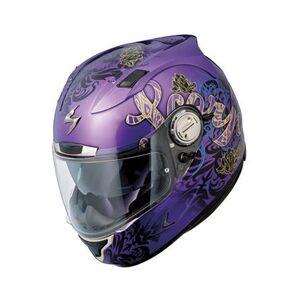Scorpion EXO-1100 Preciosa Helmet (Size 2XL Only) Purple / SM [Demo - Acceptable]