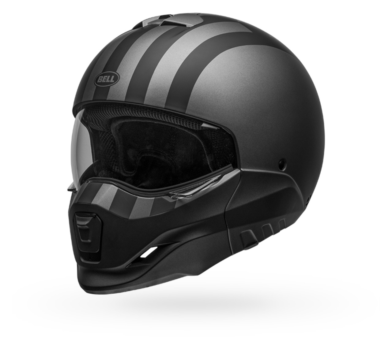 BELL HELMET BROOZER FREE RIDE MATTE GREY//BLACK XL