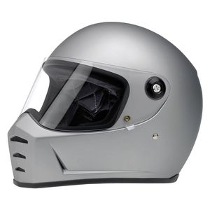 Biltwell Lane Splitter Helmet - Matte Silver