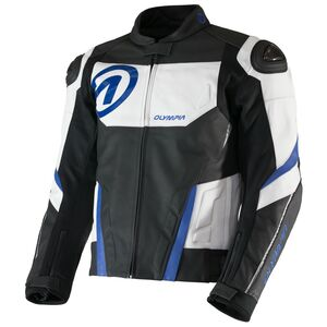 Olympia Kanto Leather Jacket Black/White/Blue / SM [Demo - Good]
