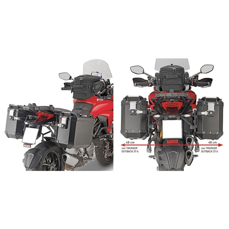 Givi PLR7411CAM Rapid Release Side Case Racks Ducati Multistrada 1260 / S 2018-2020