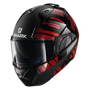 Shark EVO One 2 Lithion Helmet Black/Chrome/Red / MD [Demo - Good]