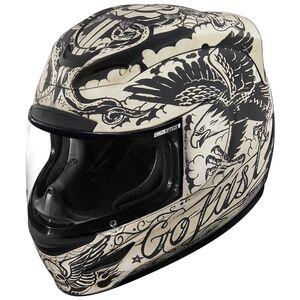 Icon Airmada Scrawl Helmet White / XS [Open Box]