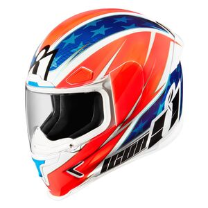 Icon Airframe Pro Maxflash Helmet Red/White/Blue / MD [Blemished - Acceptable]