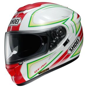 Shoei GT-Air Expanse Helmet Red/White/Green / MD [Demo - Acceptable]